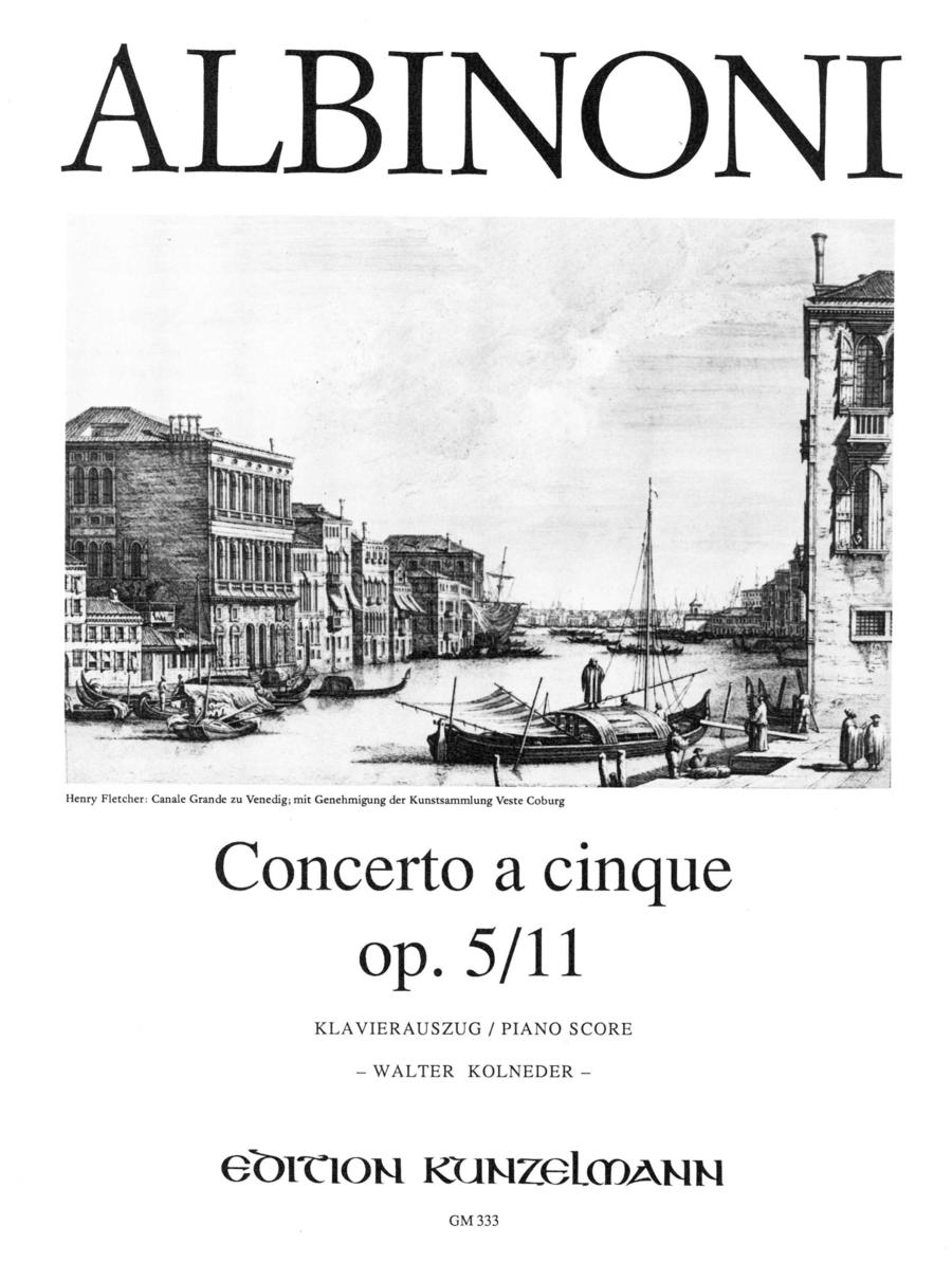 Concerto a Cinque Op. 5 No. 11 in g minor