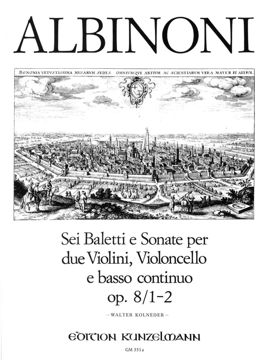 Balletti e Sonata a tre in 3 volumes Volume 1