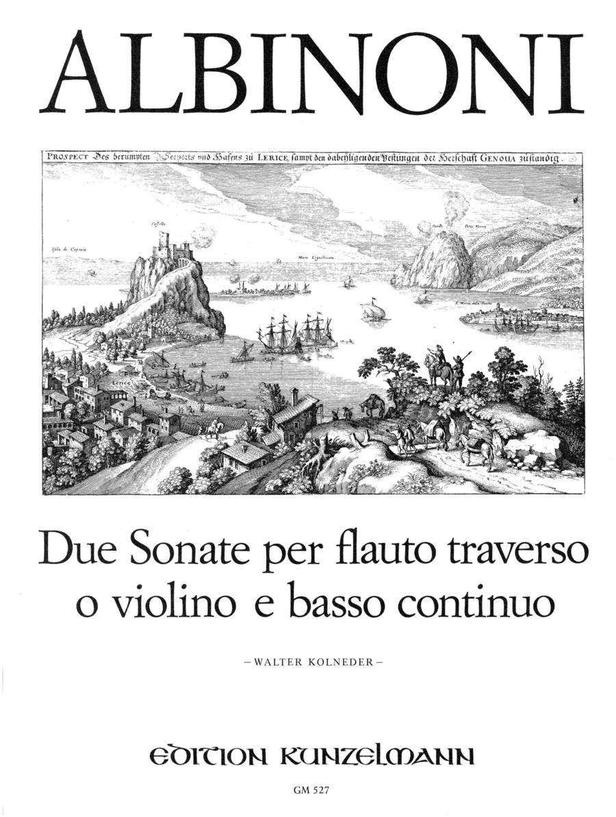 2 Sonatas for Flute or Violin and Basso Continuo
