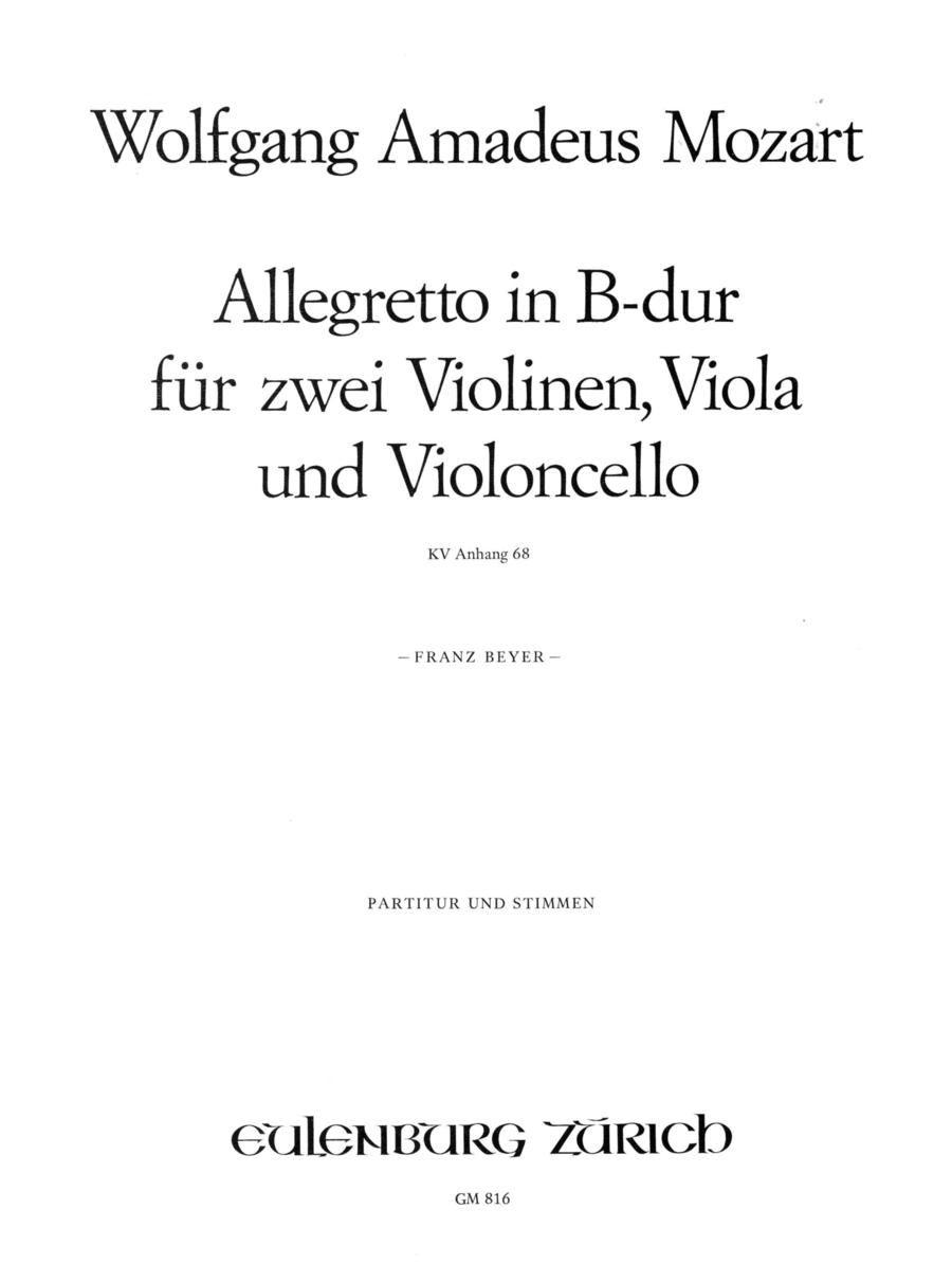 Allegretto in Bb Major K.68