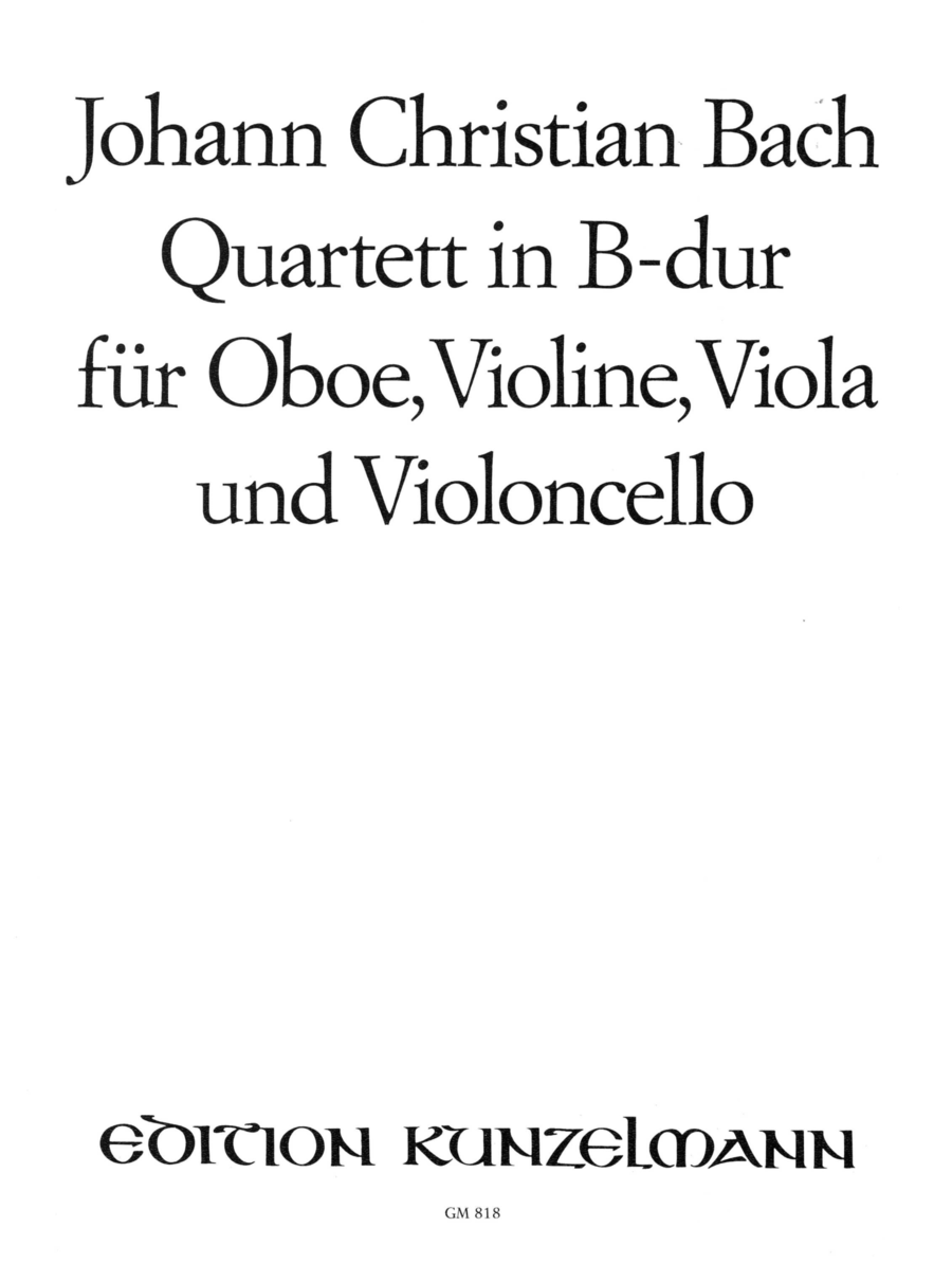 Quartet in Bb Major for Oboe, Violin, Viola, and Violoncello