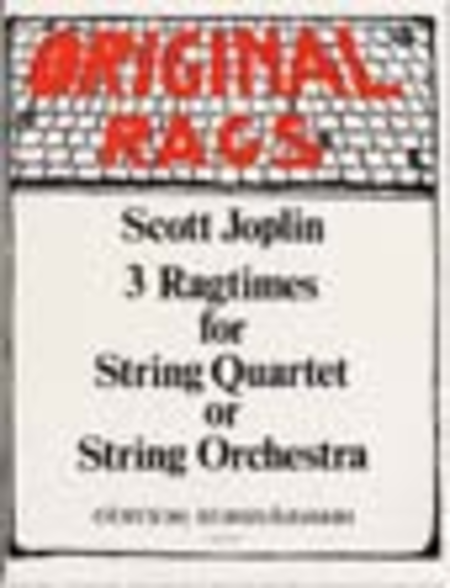 Ragtimes (3) for String Quartet/Quintet/ Orchestra