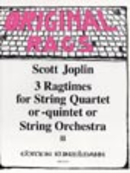 Ragtimes for String Quartet/Quintet/Orchestra Vol. 2