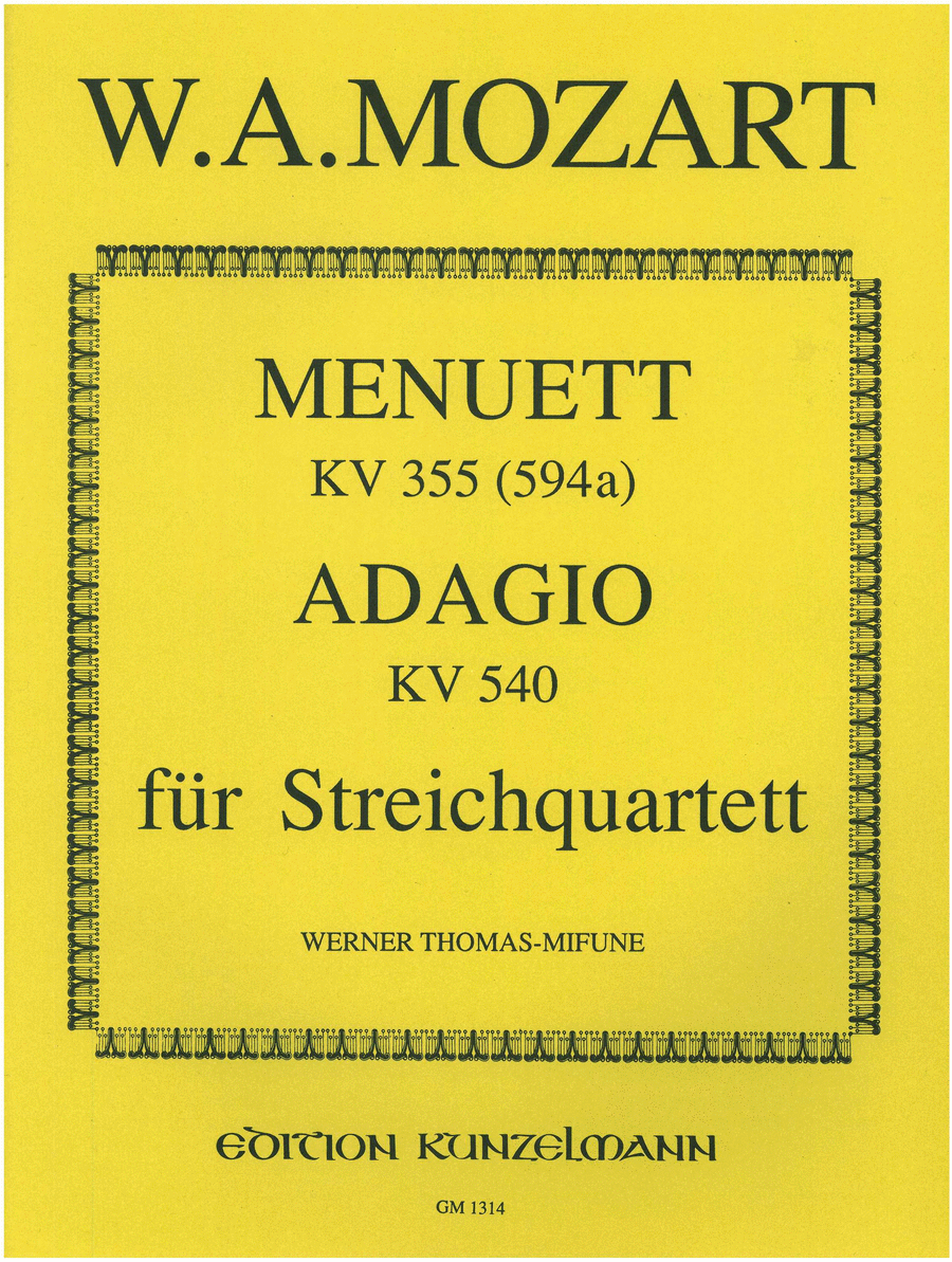 Menuett and Adagio K355(594a) & K540