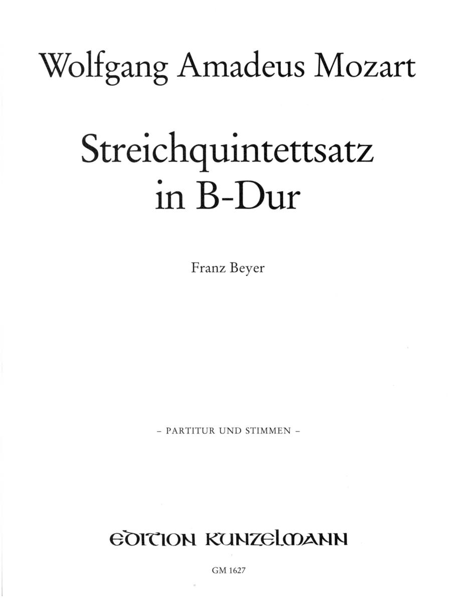String Quintet in Bb Major, K.Anh.80(514a)