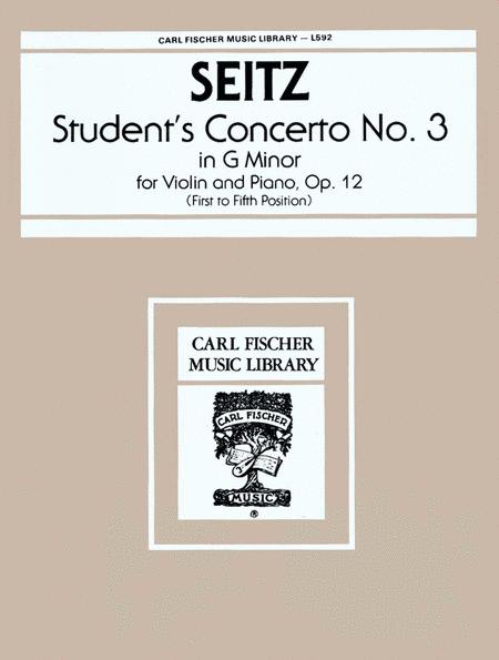 Student's Concerto No. 3 in G Minor, Op.12