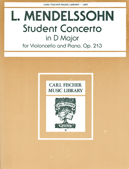 Student Concerto In D Major, Op. 213