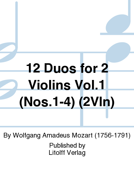 12 Duos for 2 Violins Vol.1 (Nos.1-4) (2Vln)