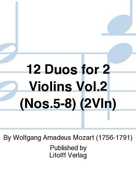 12 Duos for 2 Violins Vol.2 (Nos.5-8) (2Vln)