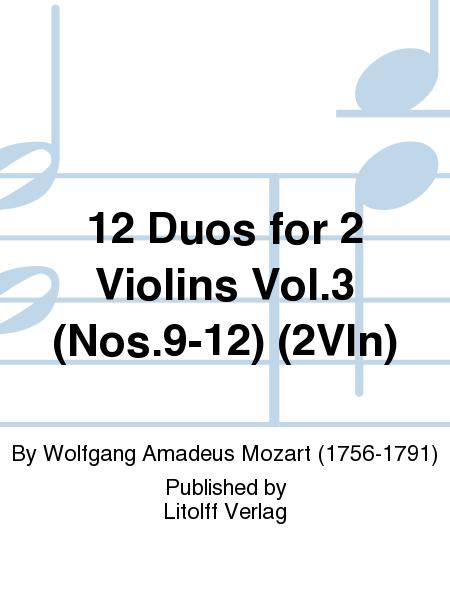 12 Duos for 2 Violins Vol.3 (Nos.9-12) (2Vln)
