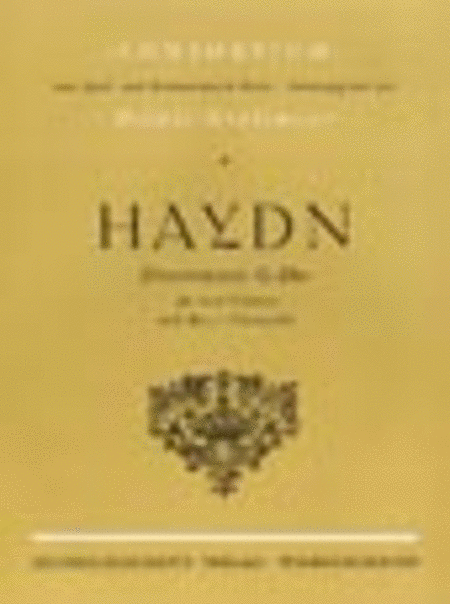 3 Divertimenti in G (Originally Baryton Trios)