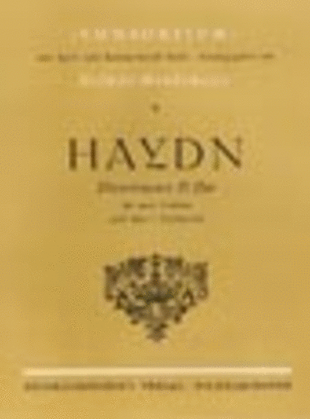 3 Divertimenti in D (Originally Baryton Trios)