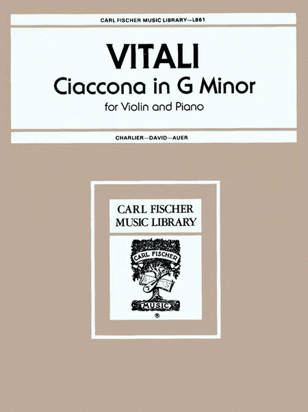 Ciaccona in G Minor