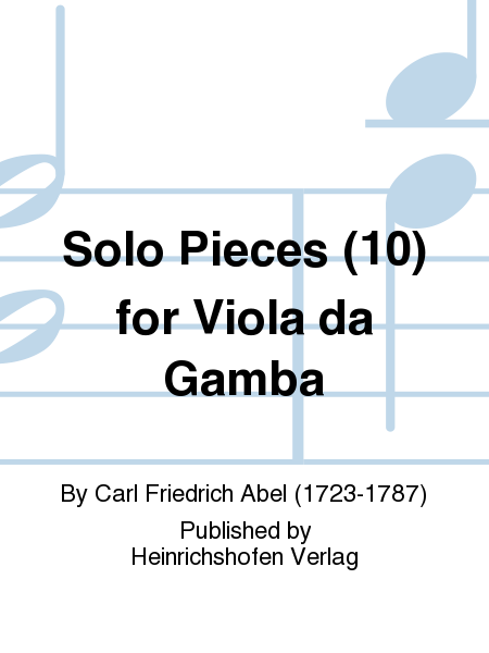 Solo Pieces (10) for Viola da Gamba