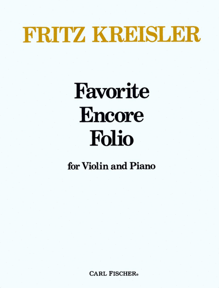 Favorite Encore Folio