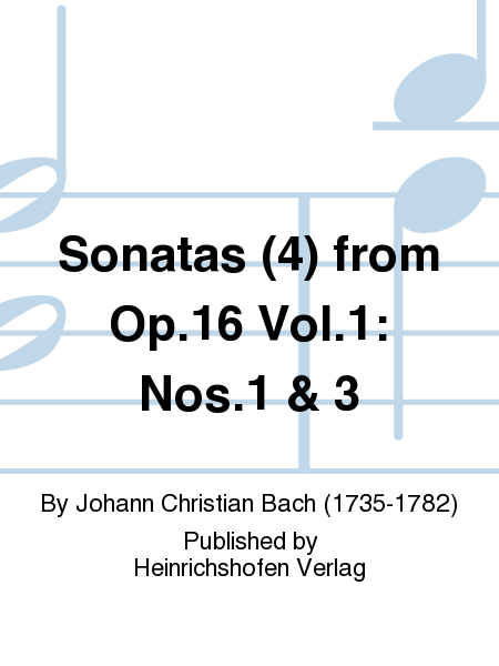 Sonatas (4) from Op. 16 Vol. 1: Nos. 1 & 3