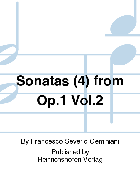 Sonatas (4) from Op. 1 Vol. 2