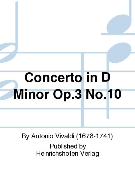 Concerto in D Minor Op. 3 No. 10