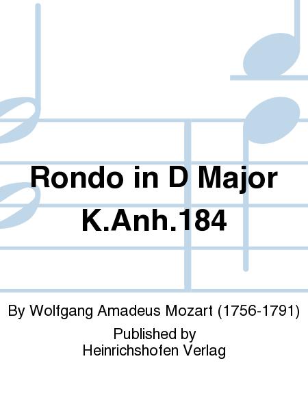 Rondo in D Major K.Anh.184