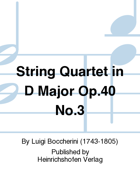 String Quartet in D Major Op.40 No.3