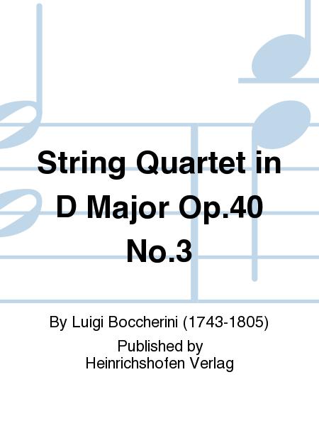 String Quartet in D Major Op.40 No.3