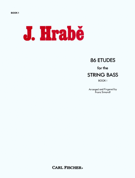 86 Etudes for String Bass-Book 1