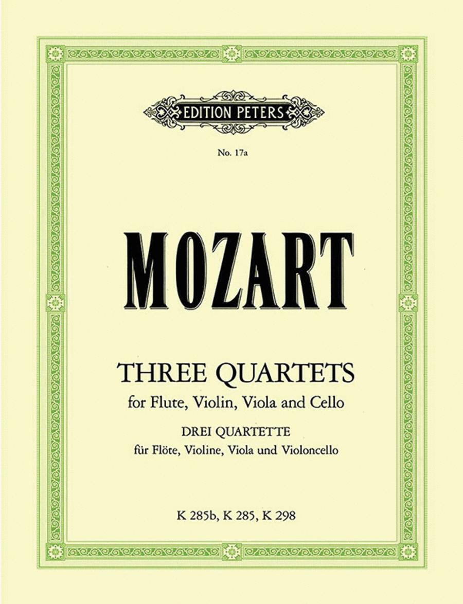 3 Flute Quartets K285 K298 K285b