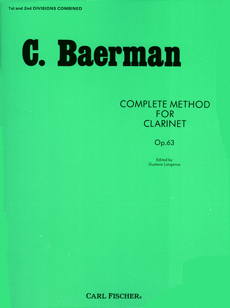 Complete Method for Clarinet, Op. 63-Pts. 1 & 2