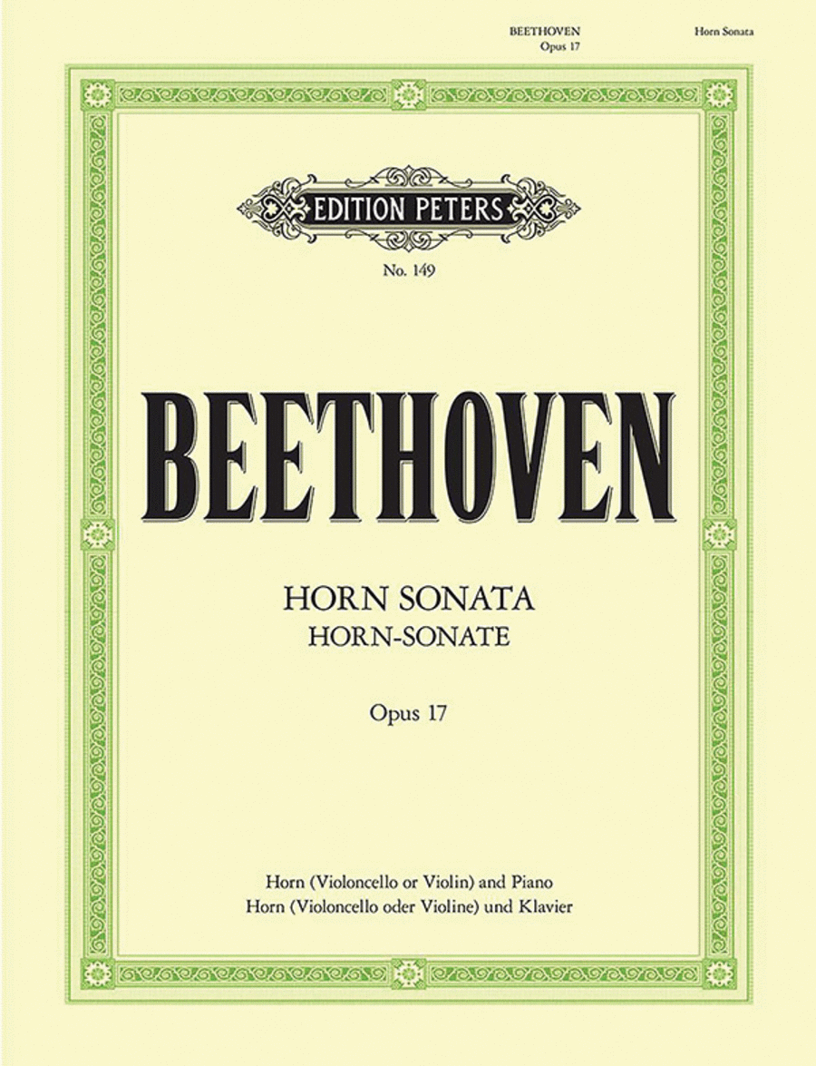 Sonata for Piano and Horn in F Op. 17