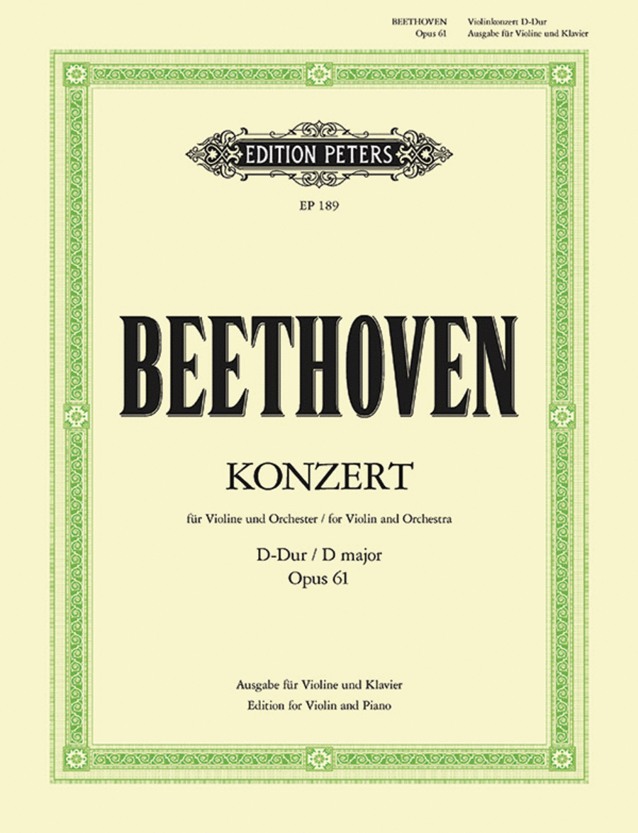 Concerto in D Op. 61