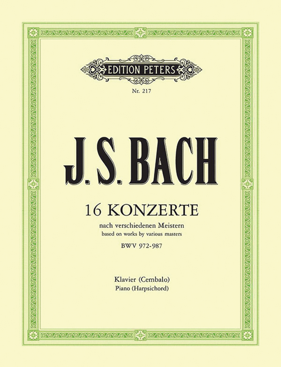 16 Concerti after Other Composers