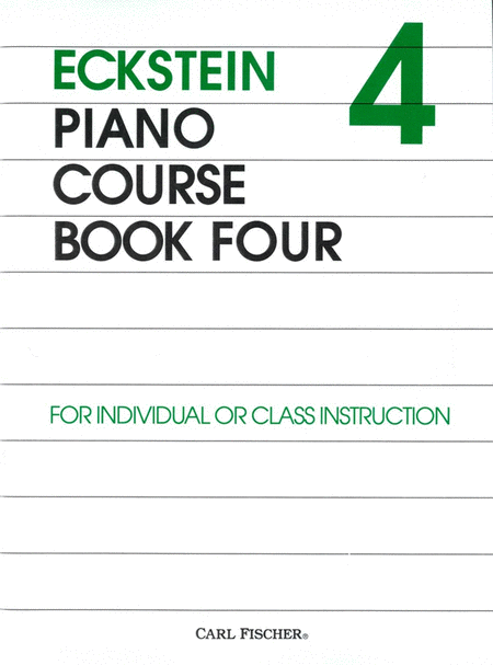 Eckstein Piano Course-Bk. 4