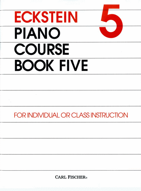 Eckstein Piano Course-Bk. 5