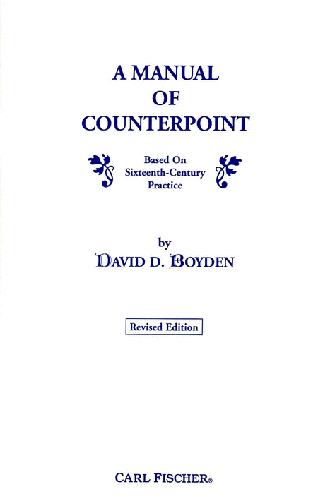 A Manual of Counterpoint