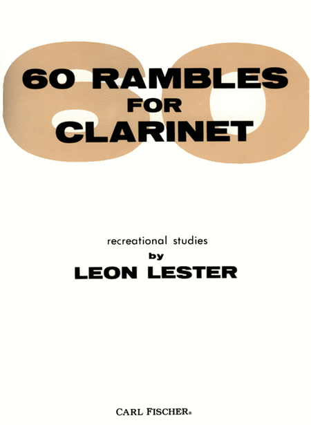 60 Rambles for Clarinet