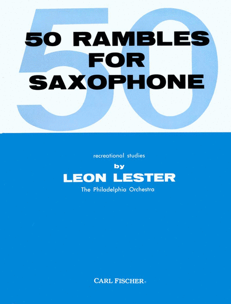 Fifty Rambles for Saxophone