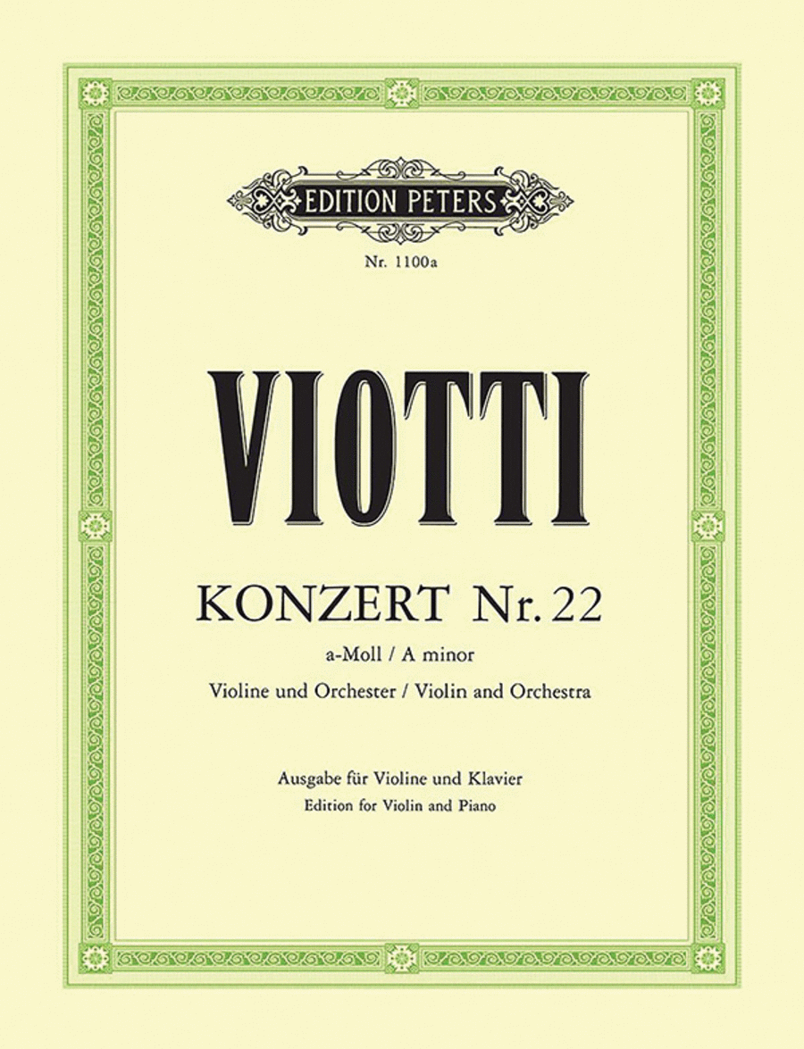 Concerto for Violin No.22 in a minor