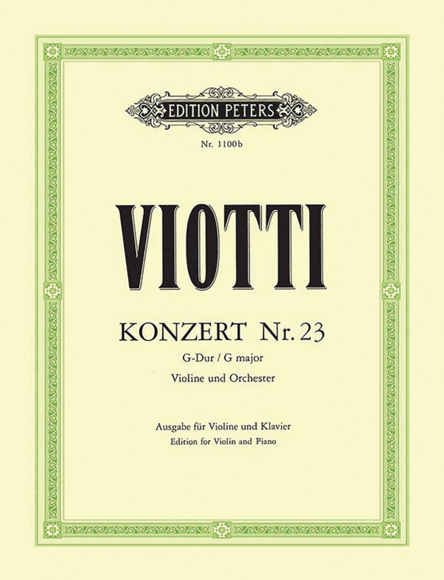 Concerto for Violin No. 23 in G Major