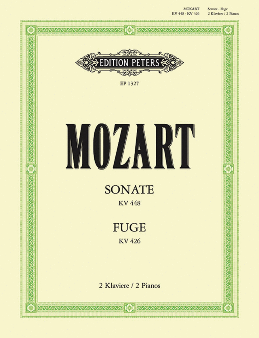 Sonata in D K448 / Fugue in c minor K426