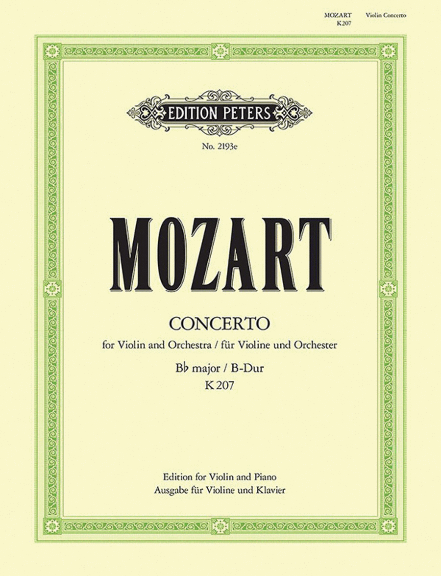 Concerto No. 1 in B flat K207