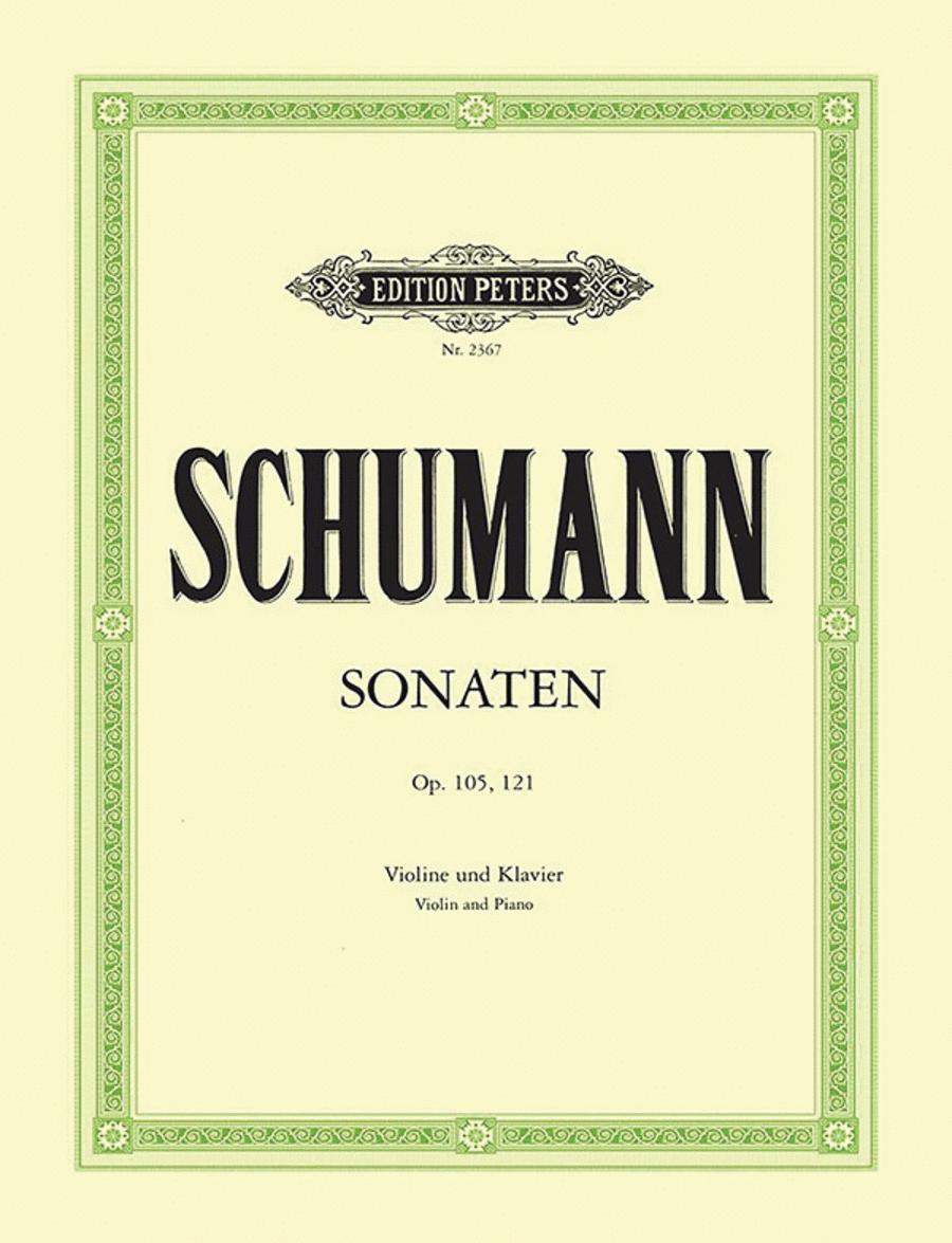 Sonatas in A minor Op. 105; D minor Op. 121
