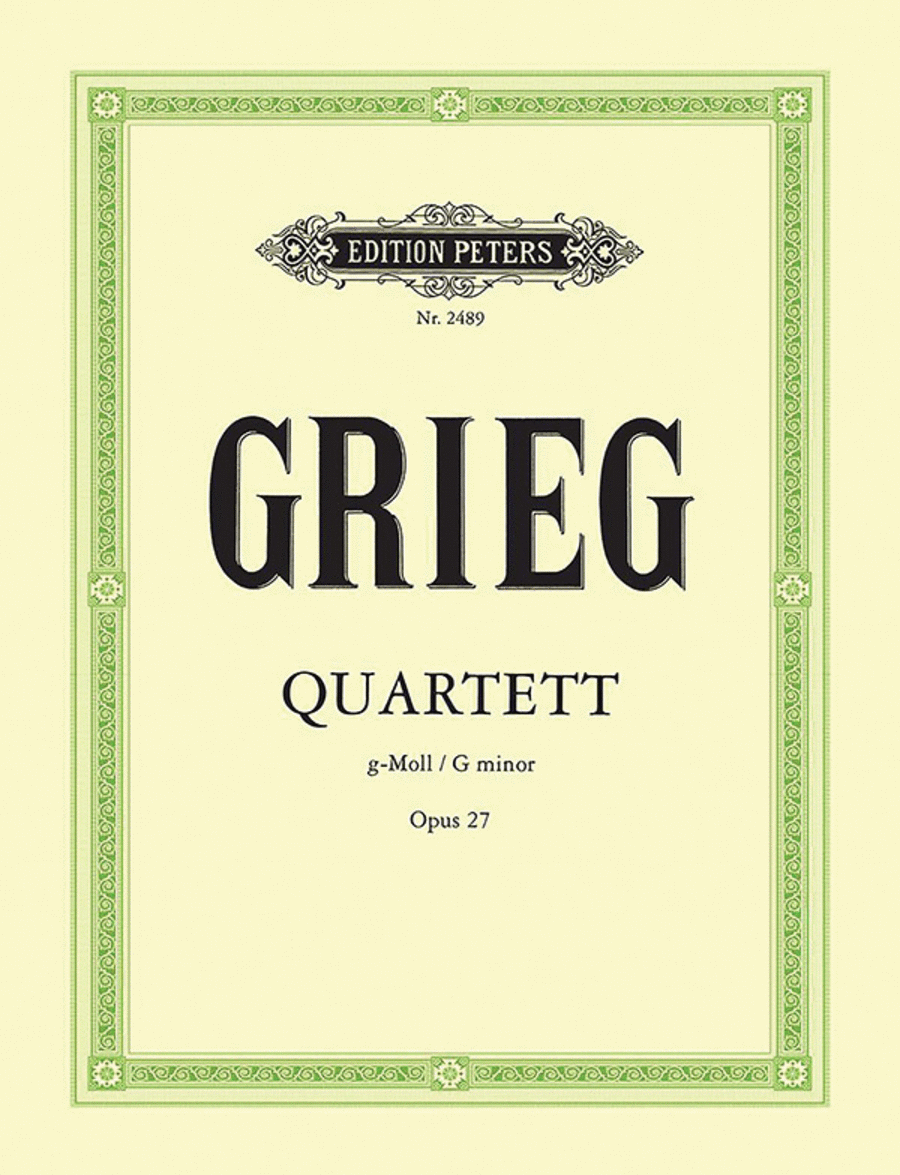 String Quartet in G Minor, Opus 27