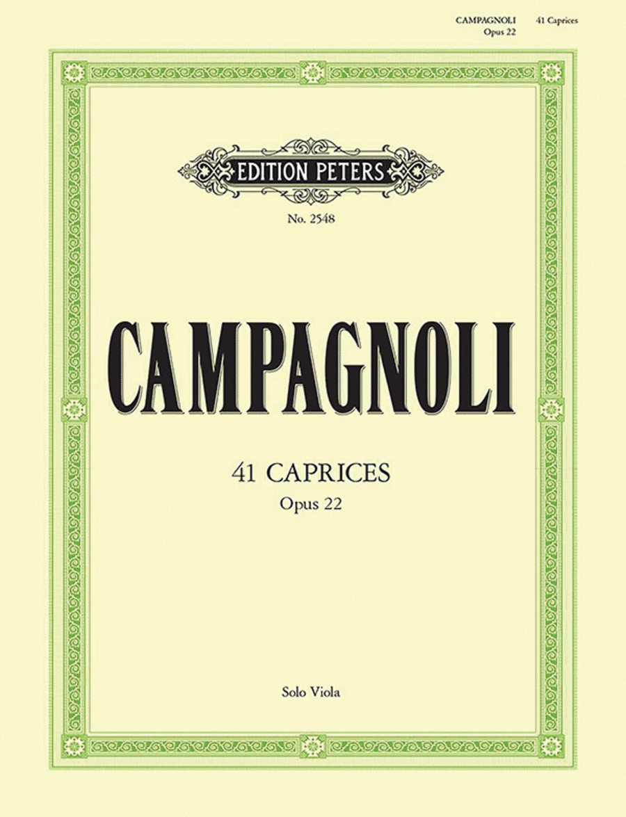 41 Caprices Op. 22 for Solo Viola