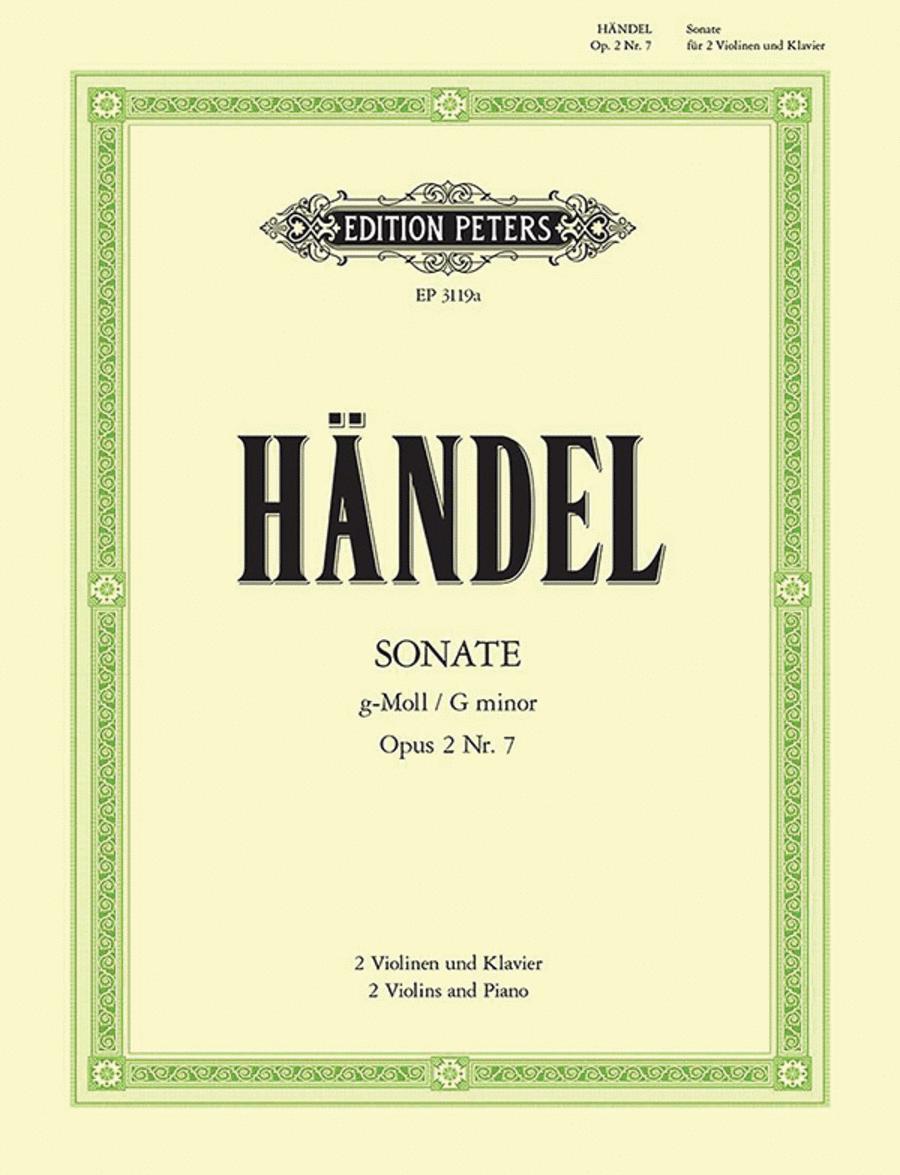 Trio Sonata in G minor HWV391 / Op.2 No.7