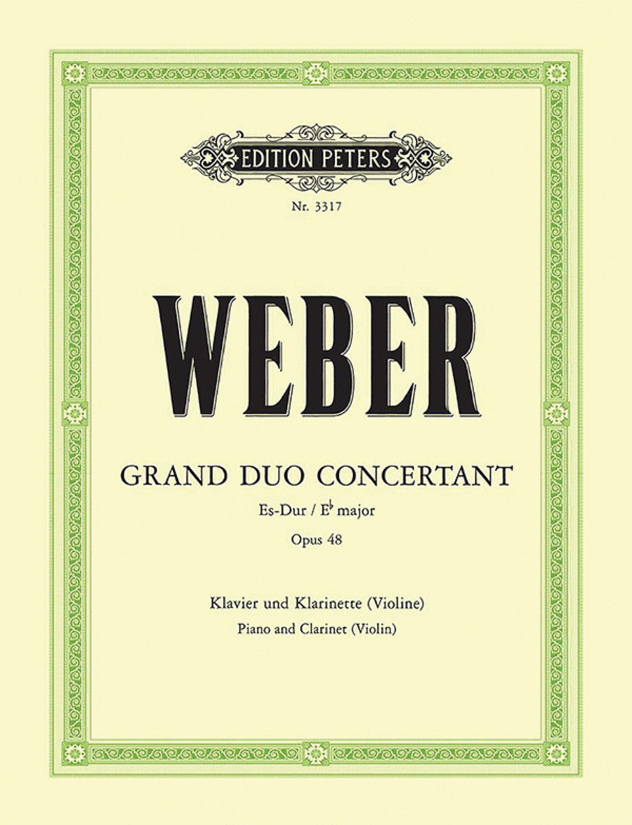 Grand Duo Concertant in E flat Op. 48