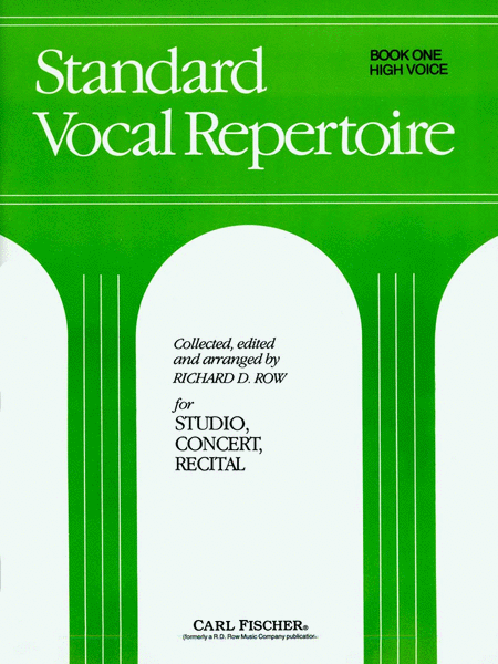 Standard Vocal Repertoire-Bk.1-High Voice