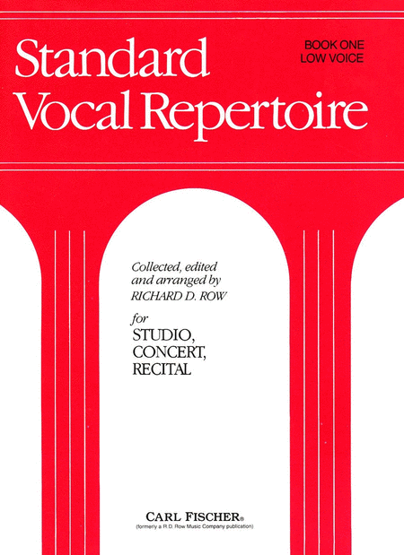 Standard Vocal Repertoire Volume 1 for Low Voice