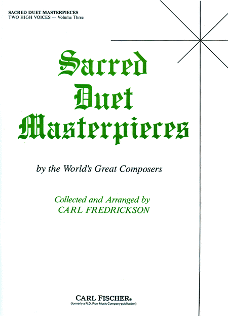 Sacred Duet Masterpieces-Vol. 3-High Voices