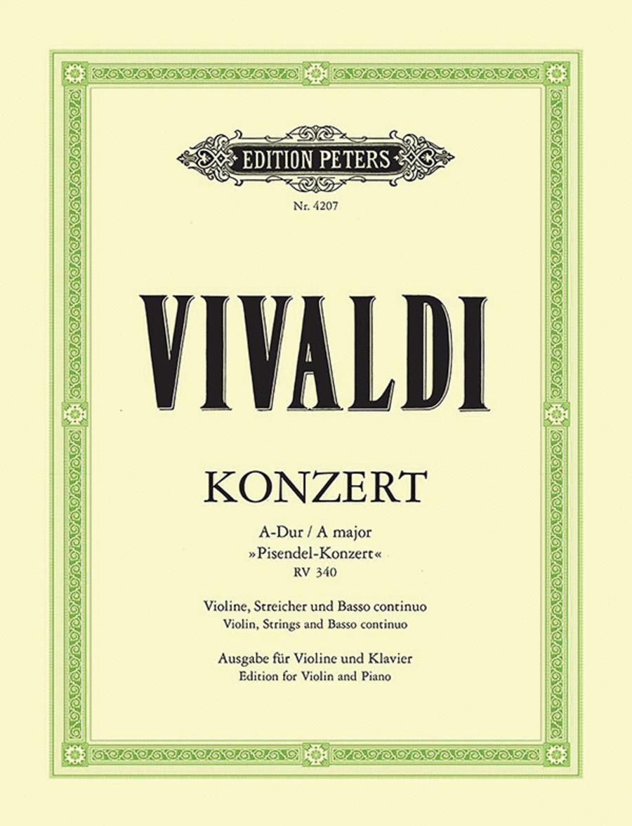 Violin Concerto in A RV340 'Pisendel Concerto'