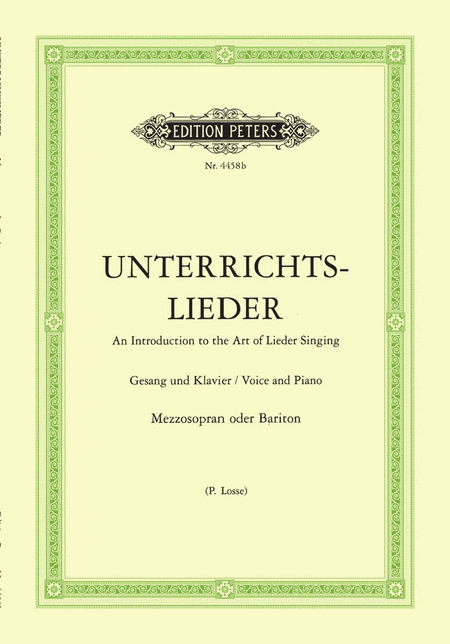 Album of 60 Lieder from Bach to Reger 'Unterrichts-Lieder'